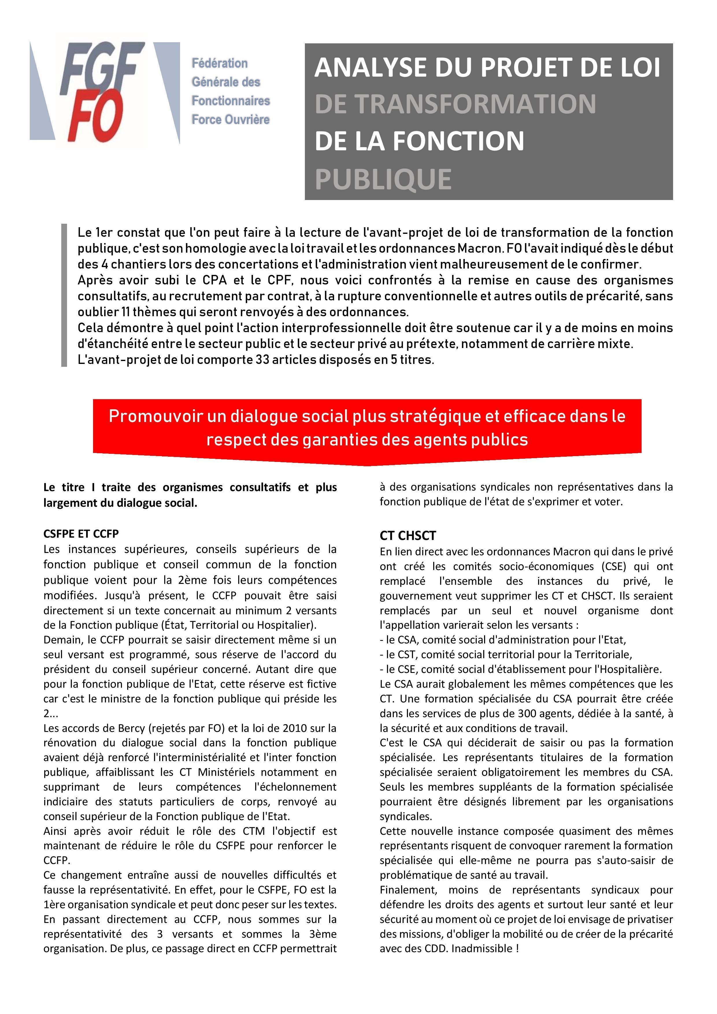 2ac9219e602 Analyse du projet de Loi de transformation de la Fonction Publique ...