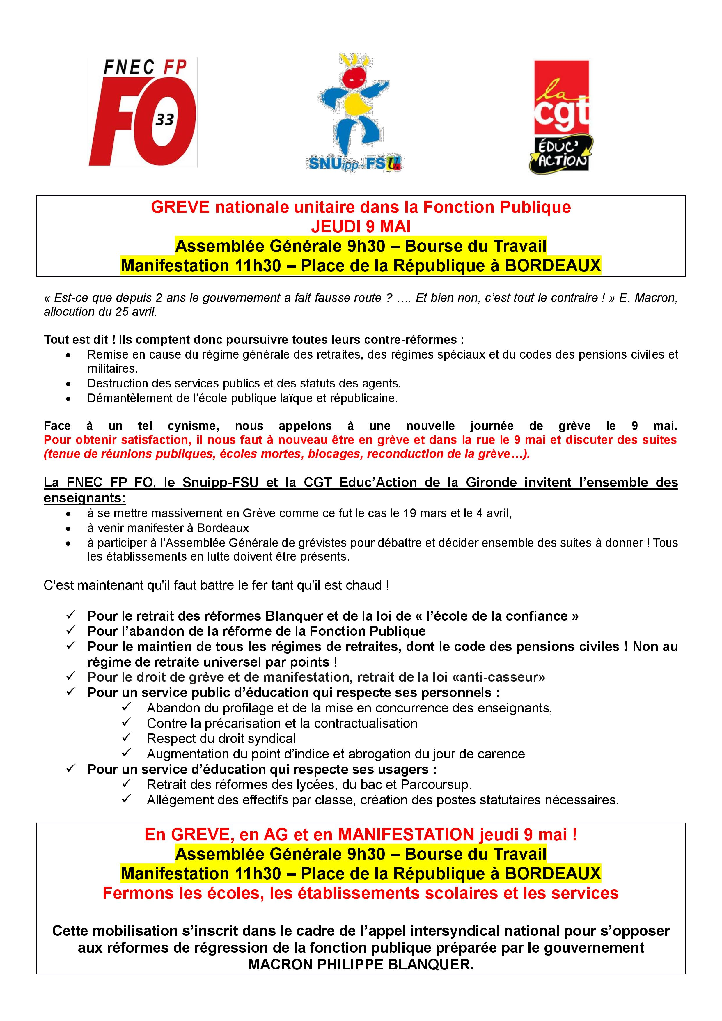 b668f815c6b Snudi FO 33   FO SNUDI FNEC FP Gironde